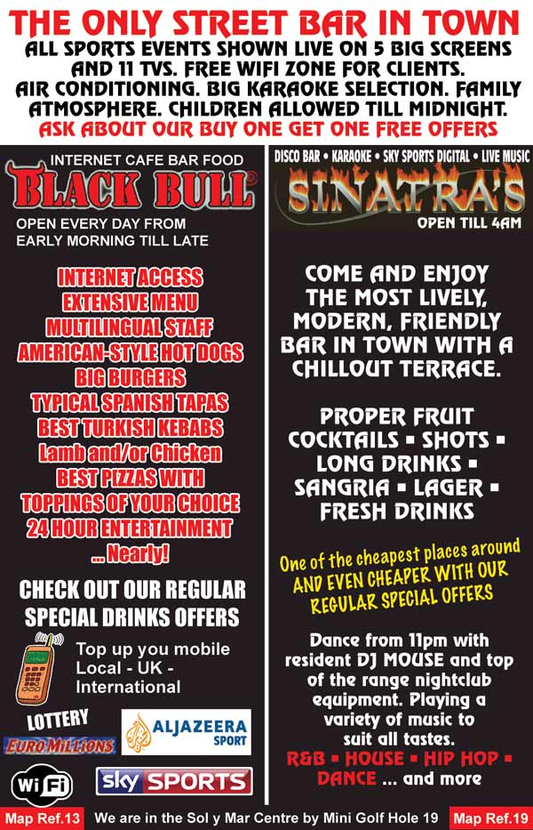 blackbull and sinatras internet cafe, disco bar and karaoke