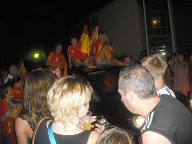 calas de mallorca (majorca) world cup celebrations